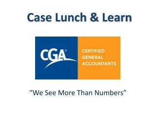 Case Lunch & Learn