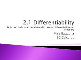 Miss  Battaglia BC Calculus