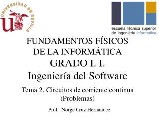 FUNDAMENTOS F�SICOS DE LA INFORM�TICA GRADO I. I.  Ingenier�a  del Software