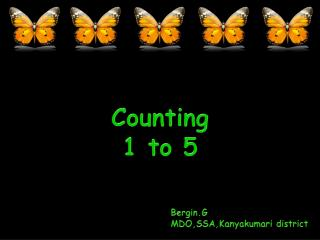 Counting  1 to 5