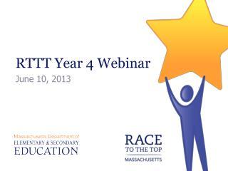 RTTT Year 4 Webinar