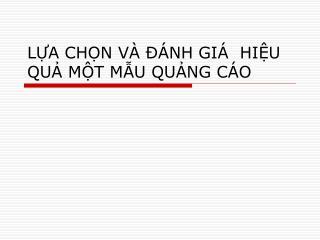 LA CHN V    NH GI   HIU QU MT MU QUNG C O