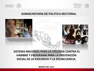 SUBSECRETARÍA  DE  POLÍTICA SECTORIAL