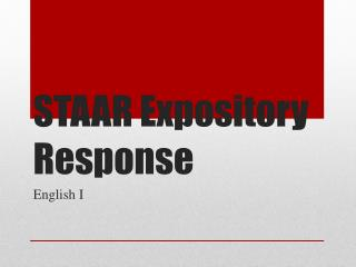 STAAR Expository Response