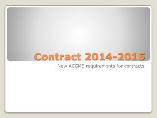 Contract 2014-2015