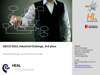 GECCO 2013, Industrial Challenge, 2nd  place