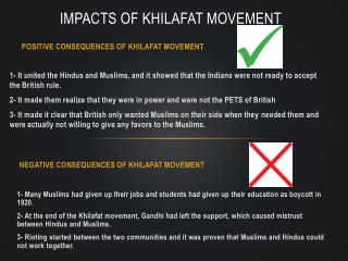 Impacts of Khilafat movement
