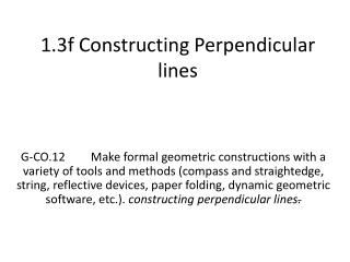 1.3f Constructing Perpendicular lines