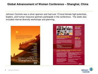 Global Advancement of Women Conference – Shanghai, China