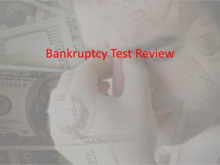 Bankruptcy Test Review