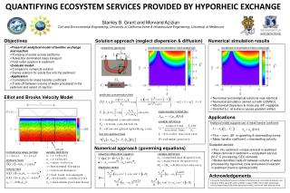 QUANTIFYING ECOSYSTEM  SERVICES PROVIDED BY  HYPORHEIC EXCHANGE