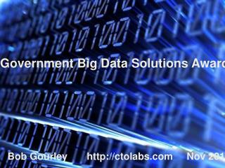 Government Big Data Solutions  Award