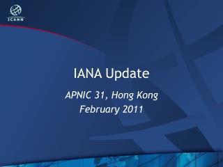 IANA Update