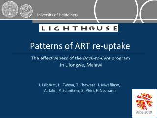 Patterns of ART re-uptake