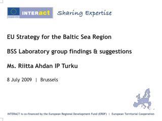 Laboratory Group on EU Strategy for Baltic Sea Region
