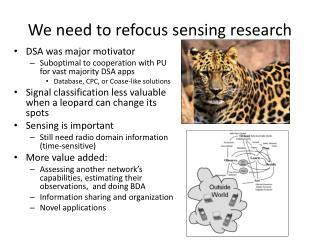 We need to refocus sensing research