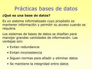 Pr cticas bases de datos