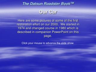 The Datsun Roadster BookTM