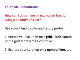 fraction color tile riddles