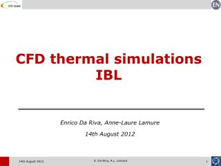 CFD thermal simulations IBL