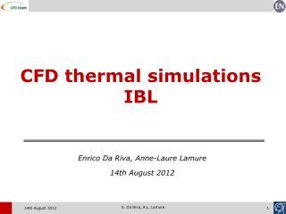 CFD thermal simulations IBL