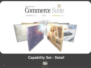 Capability Set - Detail