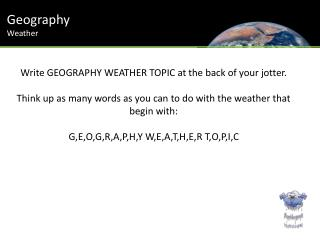Geography Weather