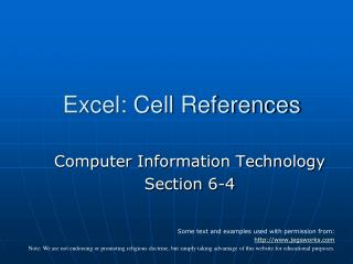 Excel: Cell References
