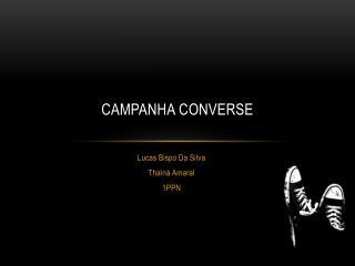 Campanha COnverse