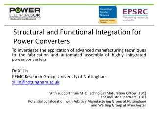 Structural and Functional Integration for Power Converters