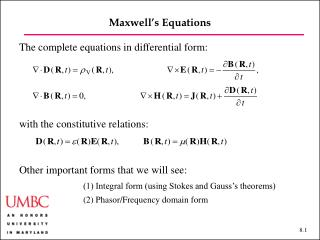 Maxwell's Equations