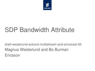 SDP Bandwidth Attribute