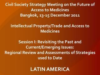 Latin America regional presentation
