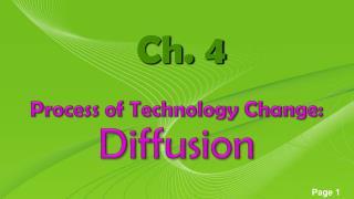 Process of Technology Change: