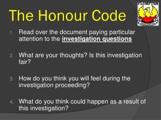 The Honour Code