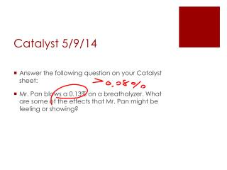 Catalyst 5/ 9 /14