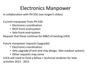 Electronics Manpower