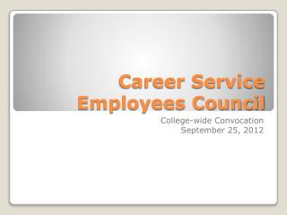 Career Service Employees Council