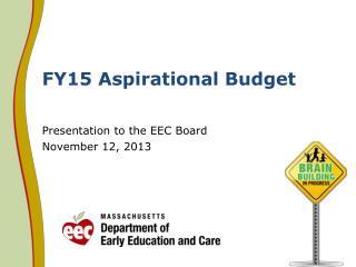 FY15 Aspirational Budget
