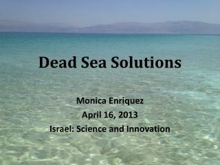 Dead Sea Solutions