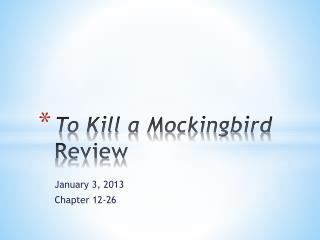 To Kill a Mockingbird  Review