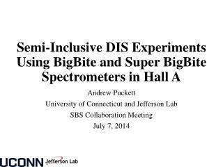 Semi-Inclusive DIS Experiments Using  BigBite  and Super  BigBite  Spectrometers in Hall A