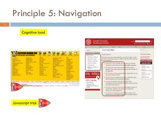 Principle 5: Navigation