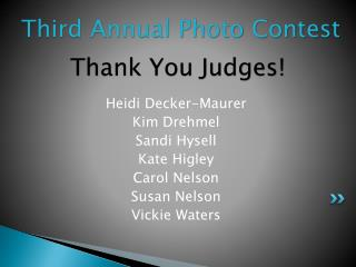 Thank You Judges!