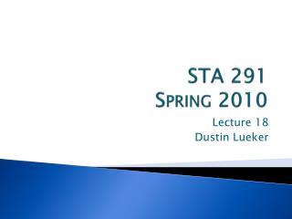STA 291 Spring 2010