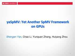 yaSpMV: Yet Another SpMV Framework on GPUs