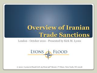 Overview of Iranian Trade Sanctions