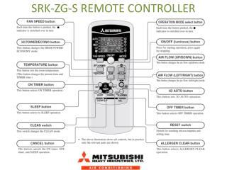 SRK-ZG-S REMOTE CONTROLLER