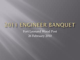 2011 Engineer Banquet