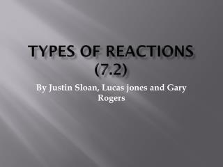 Types of Reactions (7.2)